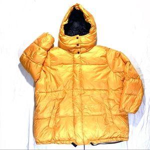 Steve Madden Yellow & Black Puffer Coat NWT 3X